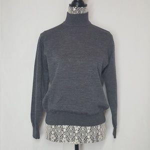 charte club classics gray wool medium sweater